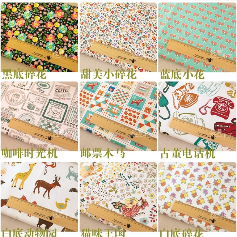 Cotton And Linen Pastoral Printing Fabric