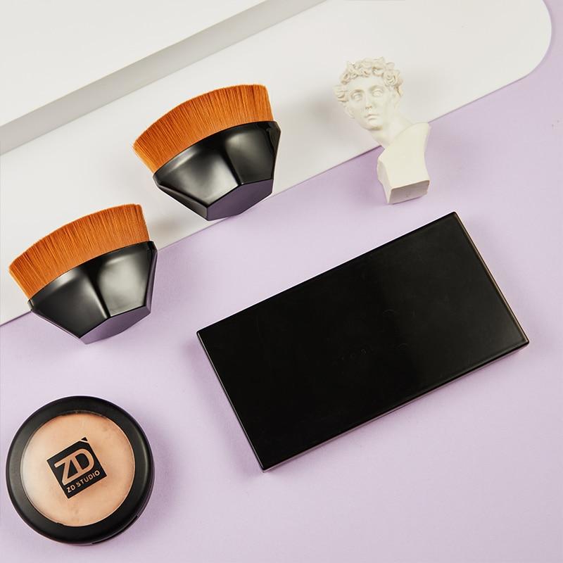 Шестиугольный ромбовидный набор для макияжа с короткой ручкой, волшебный BB крем, кисть для основы под макияж, нейлоновые высококачественны...