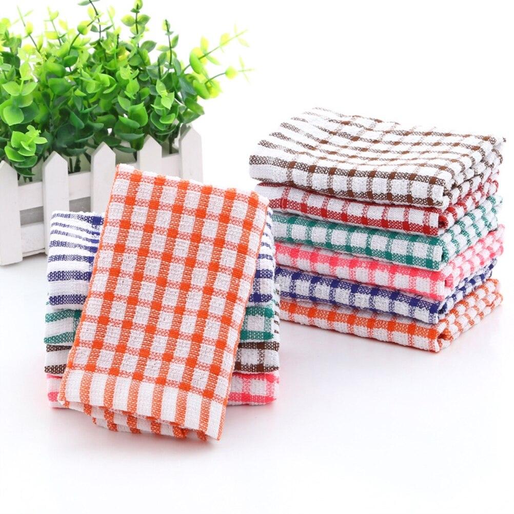 6 штук хлопок Кухня Чай впитывающее полотенце безворсовой Ресторан общественного питания ткань блюдо полотенца Cozinha Cocina Cucina Karcher Keuken
