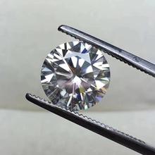 8mm IJ kolor 2ct karatowy Moissanite okrągły brylantowy krój luźny kamień doskonały luźny kamień lab diamentowy pierścionek materiał tanie tanio KALALA WHITE VVS1 Excellent none 2 carat Grzywny IJ color