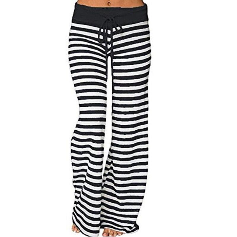 Striped Printed Loose Women   Pants   New Casual   Wide     Leg     Pants   Autumn Spring Female Long Trousers XXXL Plus Size Dot GV043