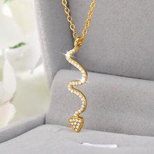 Изогнутая стрела Кулоны из нержавеющей стали ожерелье для женщин