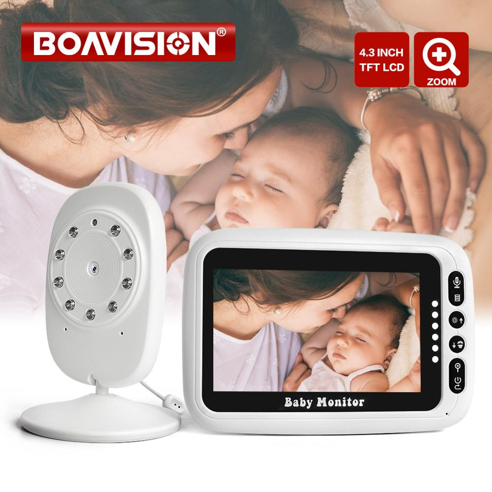 4.3 Inch LCD Video Baby Monitor 2.4G Wireless Two Way Audio Talk Night Vision Security Camera Alarm Zoom Surveillance Babysitter