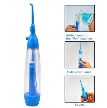 Irygator doustny nić dentystyczna higiena ciśnienie Flosser irygator wodny czyszczenie zębów wybielanie narzędzia woda Pick Cleanser Oral Gum Care tanie i dobre opinie CN (pochodzenie) Elektryczne oral nawadniania Dorosłych 1081 Electric Blue Tooth Whitening 22CM*4 5CM*2 8CM Family Type Water Flosser