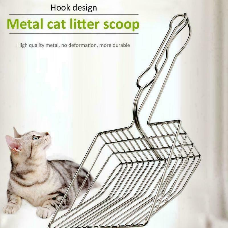 New Cat Litter Scoop Metal And Plastic Waste Scooper Poop Pet Sand Shovel Cleaning Tools