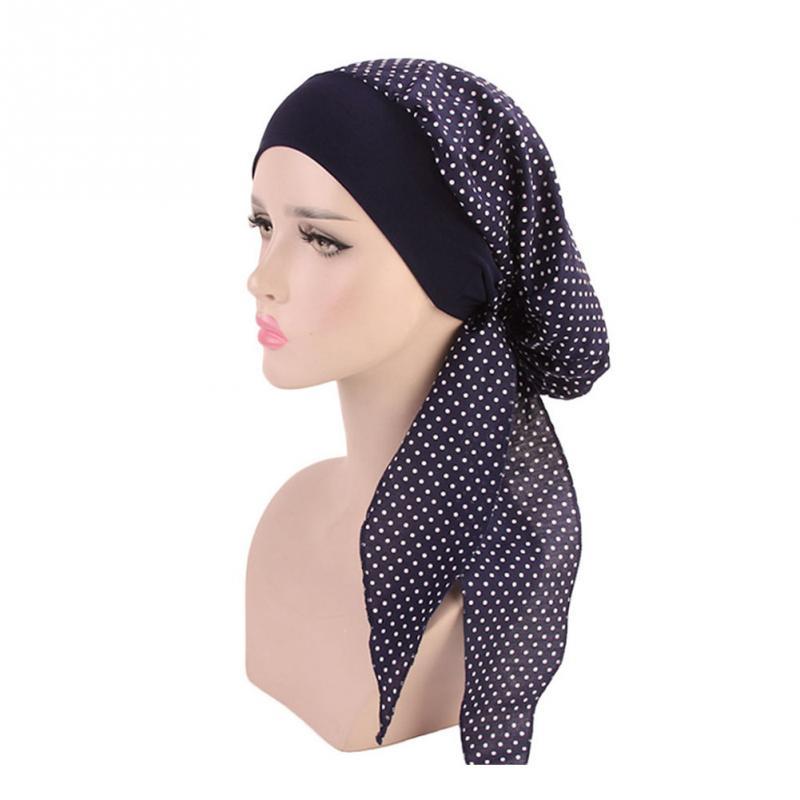 Muslim Women Turban Cap Fashion Scarf Hair Loss Head Wrap Cancer Chemo Hat Elastic Head Cover Hair Accessories #2