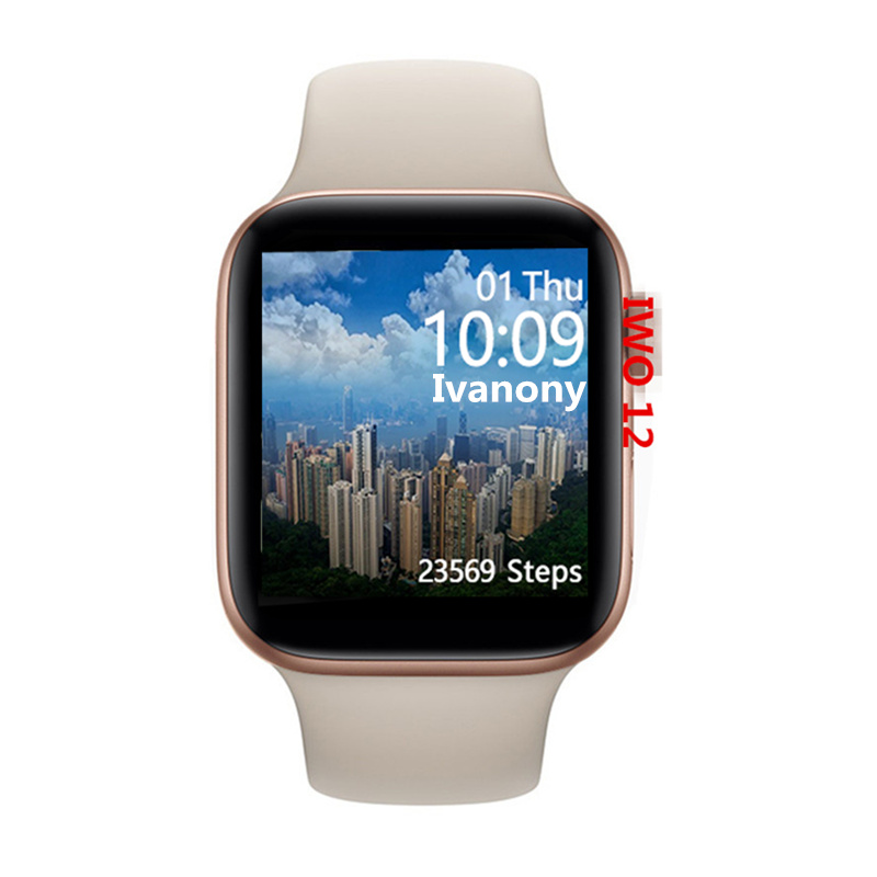 IWO <font><b>12</b></font> <font><b>Smart</b></font> <font><b>Watch</b></font> ECG Heart Rate Monitor Whatsapp Reminder IWO12 Smartwatch for iPhone Android PK IWO 8 IWO 11 image