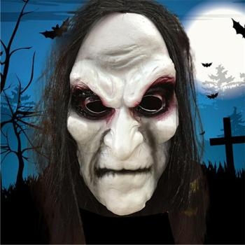 Halloween Zombie Mask Props Grudge Ghost Cover Zombie Mask Realistic Masquerade Halloween Mask Long Hair Ghost Scary Mask image