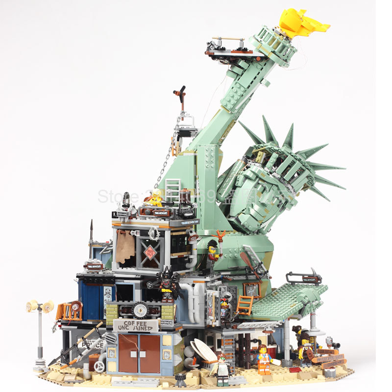 45014 Statue of Liberty Welcome to Apocalypseburg Model Building Blocks Bricks Toys Christmas Gifts Compatible Movie 2 <font><b>70840</b></font> image
