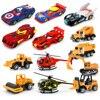 6 stylów symulacja model samochodu stopu helikopter dla dzieci zabawki Mini inżynieria samochód ciągnik zabawka wywrotka Model klasyczna zabawka prezenty