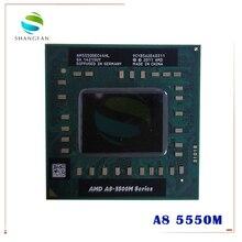 Amd Laptop CPU A8 5500M series A8 5550M A8 5550M AM5550DEC44HL Socket FS1 CPU 4M Cache/2.1GHz/Quad Core Notebook processor