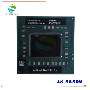 Image 1 - Amd Laptop CPU A8 5500M series A8 5550M A8 5550M AM5550DEC44HL Socket FS1 CPU 4M Cache/2.1GHz/Quad Core Notebook processor