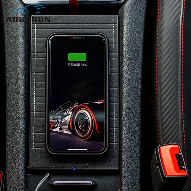 For Volkswagen VW Passat B8 2016 2017 2018 2019 QI Mobile Phone Wireless Charging Car Accessories Nondestructive Installation