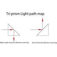30x30x30mm ângulo direito externo refletindo prisma triangular plano inclinado aluminizado elemento óptico k9 prisma reflexão total