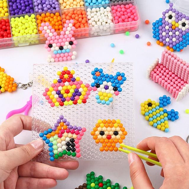 Refill Hama Beads Puzzle Aquabeads DIY Water Spray Beads Set Ball Games 3D Handmade Magic Toys For Girls Children 2