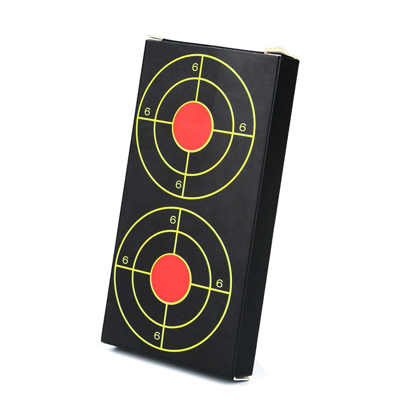 Training Paper Fluorescent Target Sticker Paper Self Adhesive Targets Slingshot Paintball Shooting Training Accessories