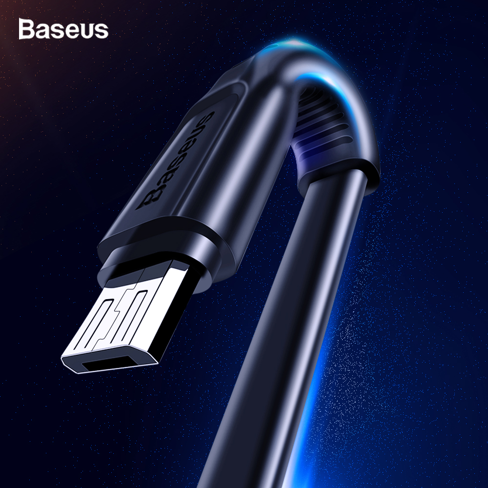 Baseus Flat Micro USB Cable Fast Charging Data Cable For Samsung A8 A7 2018 Android Mobile Phone Charger Cord Microusb Cable-in Mobile Phone Cables from Cellphones & Telecommunications on AliExpress