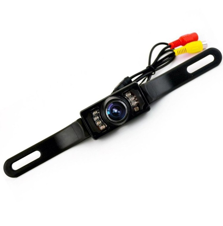 Infrared On Board Camera License Plate Frame Reverse Image Car Rear View Long License Plate Frame Webcam