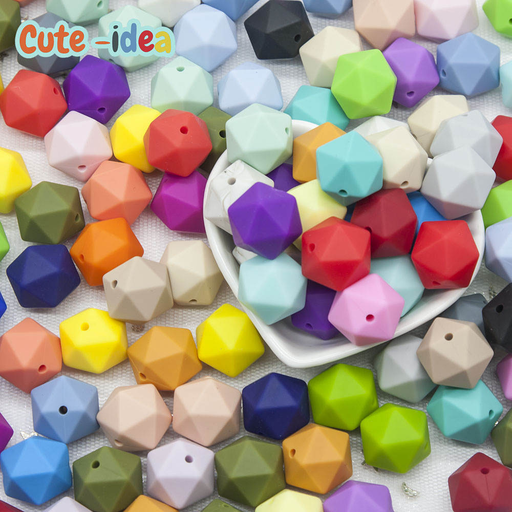 Baby Bracelet-Accessories Icosahedron Cute-Idea Silicone Pacifier-Chain Beads Necklace