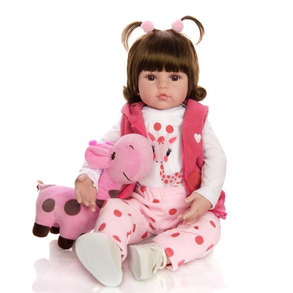 recém nascido toque real bebê boneca com girafa aniversário natal