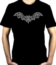 Wrought Iron Grey Bat Mens T-Shirt Gothic Punk Psychobilly Vampire Alternative Cool Casual pride t shirt men Unisex Fashion(China)