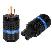Monosaudio M102/F102 % 99.998% saf bakır abd AC priz ve IEC320 C13 konektörü ses DIY şebeke güç kablosu