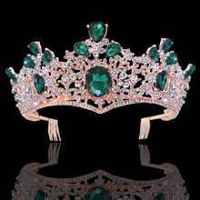 KMVEXO – couronne de diadème de mariée en strass, luxe, avec peignes, Baroque, bandeau en cristal, bijoux de cheveux de mariage