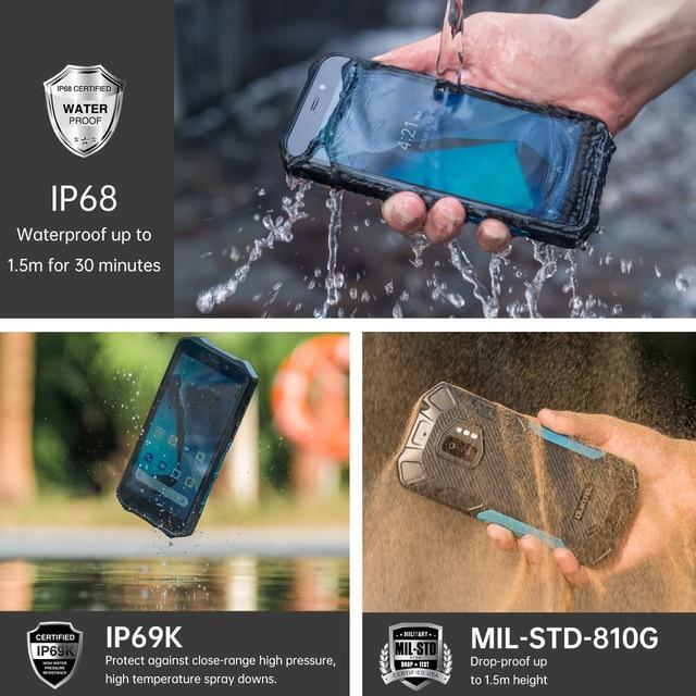 OUKITEL WP12 IP68 Waterproof Android 11 Rugged Smartphone 5.5'' HD+ Display 4GB+32GB Helio A22 NFC 4000mAh Mobile Phone 2