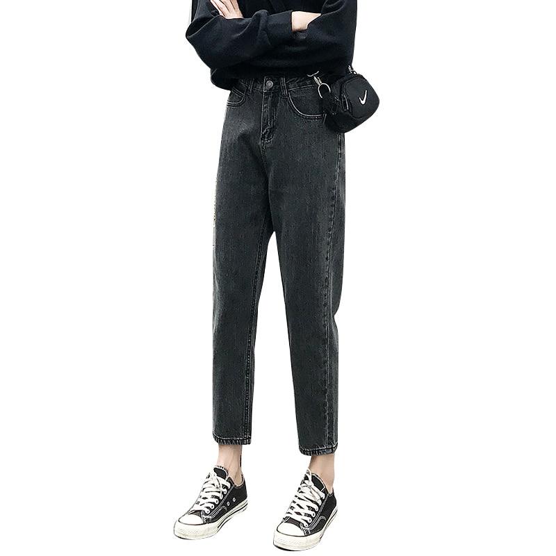 Ff9623 2019 New Autumn Winter Women Fashion Casual Denim Pants Boyfriend Loose Style Womens Jeans High Waist Jeans