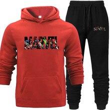Unisex Womens Printed Hoodies Marvel Sweatshirt Warm Hoodie Men Hip Hop Oversize Girls Street Off White