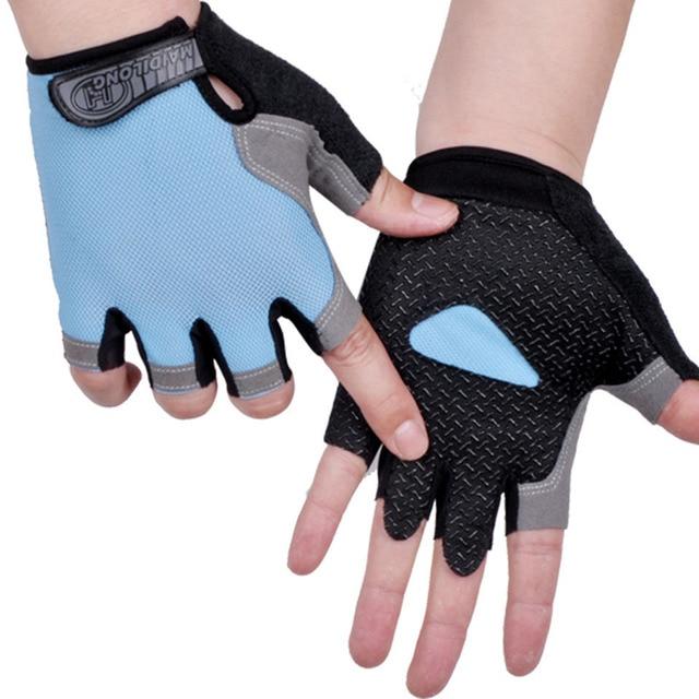 Cycling Anti-Slip Men Women Half Finger Gloves Breathable Mesh Sports Glove Heiß