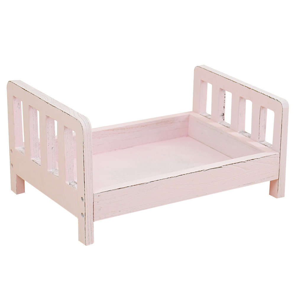 Infant Wood Bed Gift Newborn Photo Shoot Accessories Posing Baby Photography Studio Props Basket Crib Detachable Background Sofa