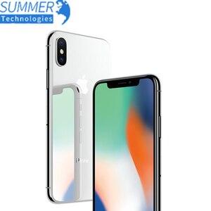 Оригинальный разблокированный iPhone X, OLED, IOS, шестиядерный ПЗУ 3 ГБ ОЗУ 256 ГБ 64 ГБ, двойная тыловая камера 12 МП, 5,8 дюйма, 4G LTE сотовый телефон