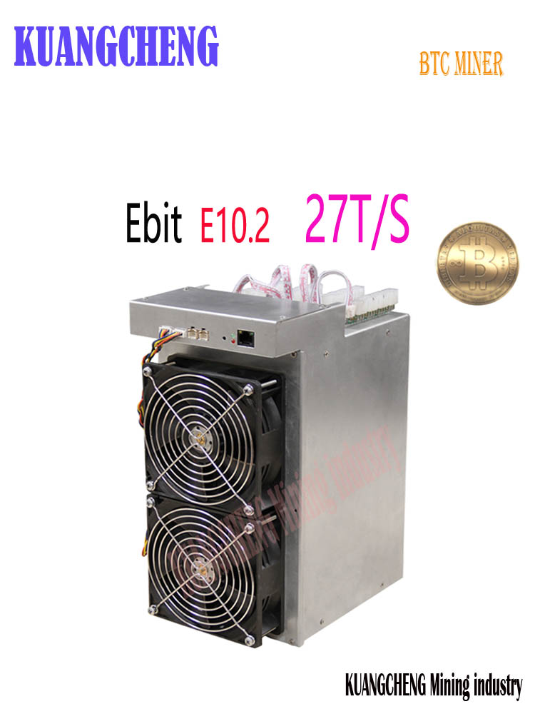 New Btc BCH Miner Ebit E10.2 27T SHA256 Miner Better Than E9i E10.3 Antminer S7 S9 S9k S9j T9+ S11 S15 T17 WhatsMiner M3 M25s
