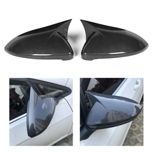 1 Pair Carbon Fiber Style Car Side Rearview Mirror Cover Cap Housing ABS Fit for VW Golf MK7 7.5 R 2014 2015 2016 2017 2018 2019