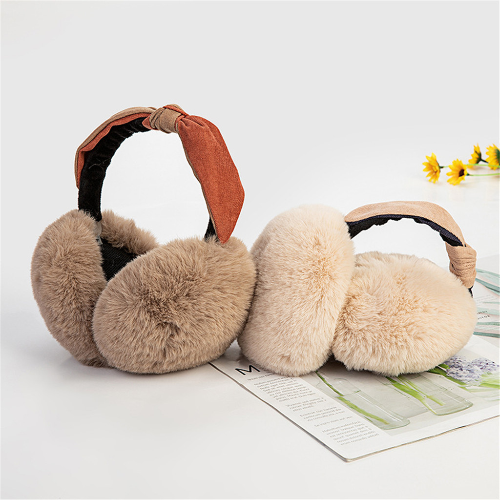Furry Earmuffs Women Solid Color Multicolor Warm Protection Ear Windproof Earmuffs Daily Wild Design Autumn And Winter Soft