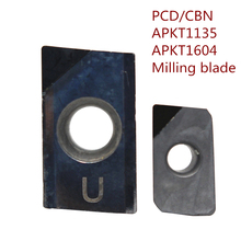 2pcs APKT1135 APKT1604 PCD CBN APKT113502/04 APKT160408PDER High-gloss aluminum milling cutter High hardness endmill CNC