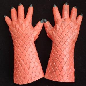 Image 2 - Demon Horror Lord Diablo Belial Mask Cosplay Boss Belial Latex Masks Gloves Halloween Carnival Party Costume Props