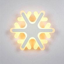 Современный акриловый настенный светильник со снежинками прикроватный