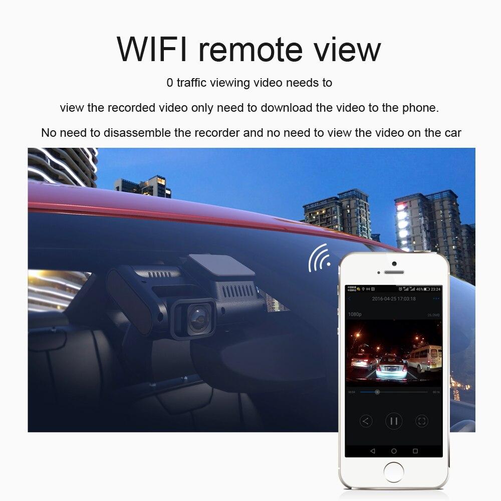 Aiba J07 WIFI Dual Lens Sony IMX323 Dash Cam Novatek 96663 Chip Sensor Night Vision Dual Camera Dash Cam 24H Parking 4k 2160p 2