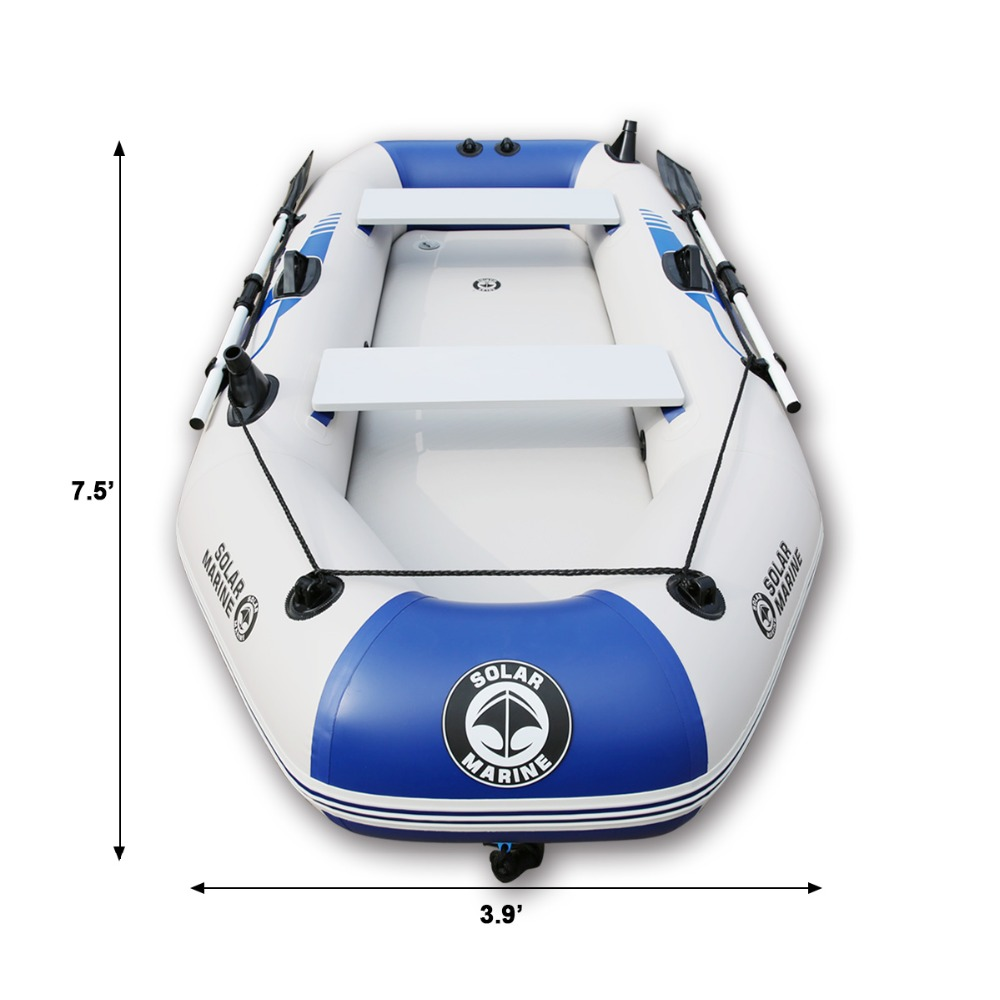 Outdoor Water Inflatable Boat 2-6people PVC Inflatable Boat Dinghy Fishing Rowing Boat For Drifting Surfing With Aluminum 1
