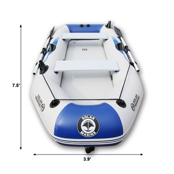 цена на Outdoor Water Inflatable Boat 2-6people PVC Inflatable Boat Dinghy Fishing Rowing Boat For Drifting Surfing With Aluminum