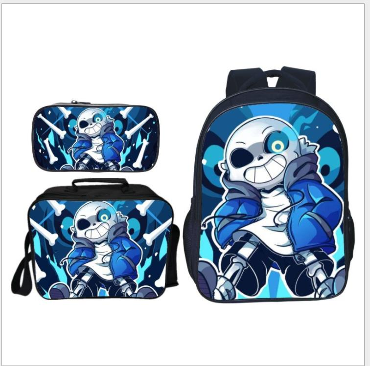 Anime Undertale Backpack For Girls Boys 3Pcs/set School Bags Women Mochila Men Travel Bag Undertale Children Teenage Mochilas