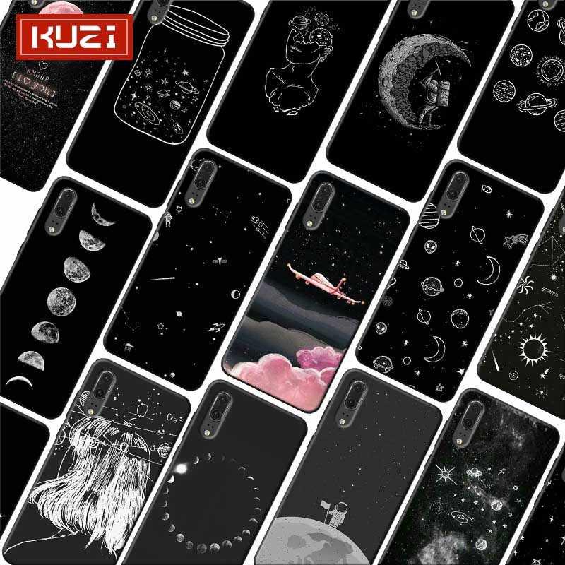 Cielo espacio planeta suave de silicona caja del teléfono para huawei mate 30 pro p20 p30 pro amigo 20 pro amigo 20 lite