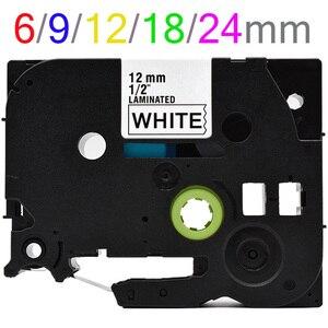 Multi colors Tze231 Label Tape Compatible for Brother P Touch printer Tze tapes Tze-231 tze 231 tz231 tze131 tze241 tze221 141(China)