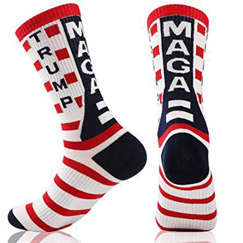 1 Pair Donald Trump 2020 Cotton Socks Maga Usa Socks American Flag Striped Socks