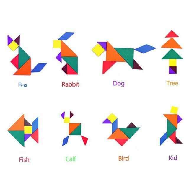 Tangram Outline Puzzles | ClipArt ETC | Tangram patterns, Tangram puzzles,  Tangram