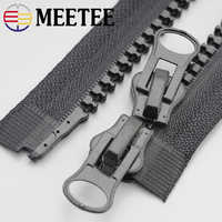 2pcs Meetee 8# Resin Zipper 60-200cm Double Sliders Down Jacket Coat Tent Awning Open End Zipper Sewing Clothing Accessories