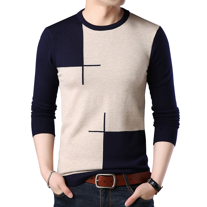 FAVOCENT Men's Sweater Pull O-Neck Homme Knittwear Autumn Casual Fitness M-3XL Slim