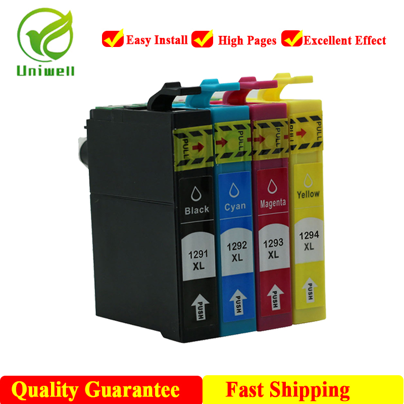 Uniwell T1291 T1295 New compatible ink cartridge For Epson 129XL Stylus SX230 SX235W SX420W SX425 B42WD BX305F WF-7015 Printer